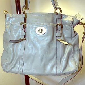 COACH Chelsea Taupe Premium Patent Leather Tote